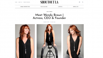 Feature story in Shoutout LA
