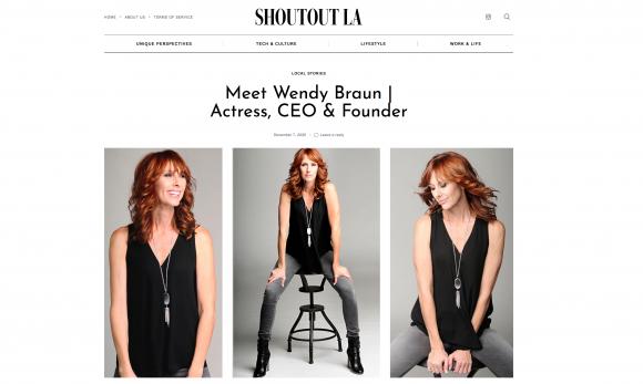 Wendy Braun featured in Shoutout LA