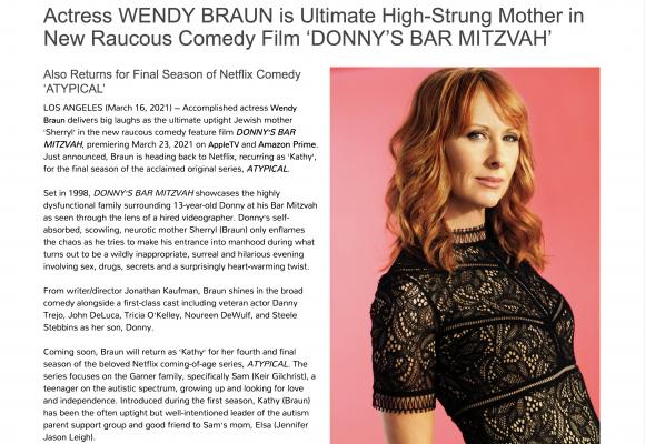 Wendy Braun starring in Donny's Bar Mitzvah