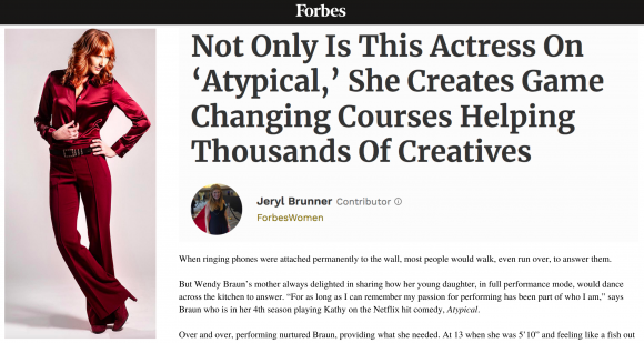 Wendy Braun featured in Forbes